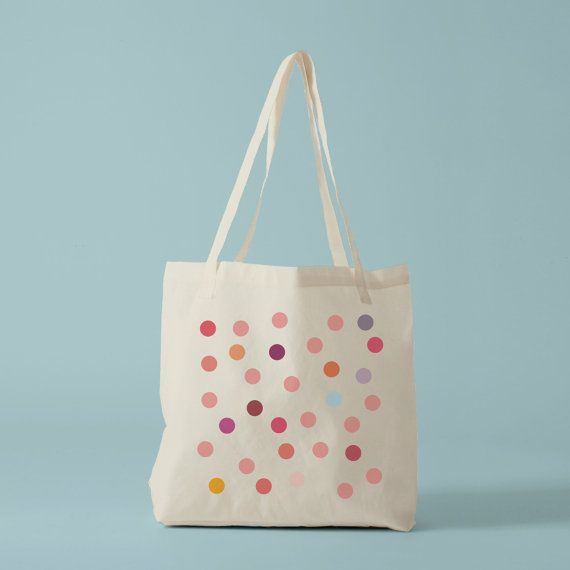 Pink Polka Dots. Tote bag in fairtrade cotton.from etsy BambouchicParis.  claradeparis.com ♥