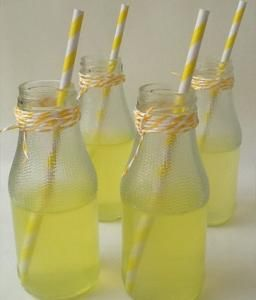 Home made lemonade!The best you'll ever taste!  4 big lemons (juice)  1 cup of regular sugar  Just mix sugar with juice and lemon zest stir and live them for about 4 hours.Put your lemonade in a pitcher  add ice cubes and 1,5 lt water or soda and enjoy!!!