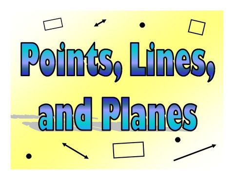 point line plane geometry - Google Search