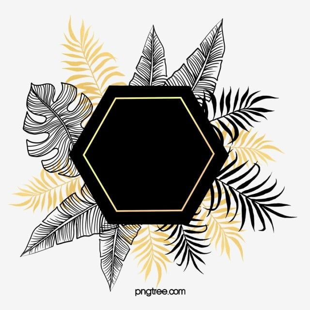 Hand Drawn Botanical Black Gold Plant Border Gold Leaf Hand Painted Plant Black Png Transparent Clipart Image And Psd File For Free Download How To Draw Hands Flower Frame Gold And