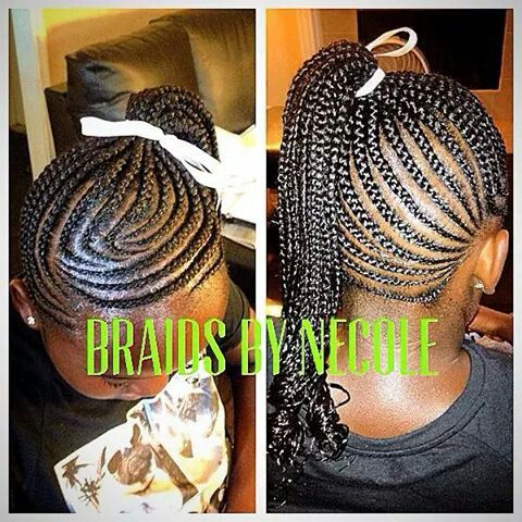 Cornrow ponytail