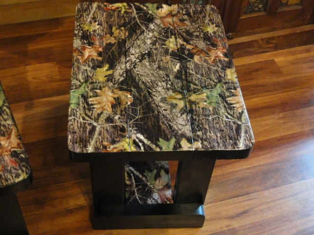 Mossy Oak Camo Side Tables