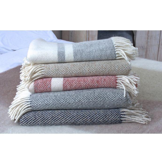 Avoca Throws, Herringbone throws, Pure New Wool throws, Avoca.com