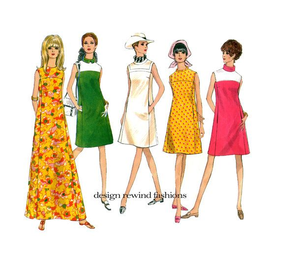 1960s VOGUE DRESS PATTERN Maxi Evening Gown Cocktail Dress Vogue 1924 Basic Design UNCuT Vintage Womens Plus Size Sewing Patterns Bust 38 by DesignRewindFashions on Etsy