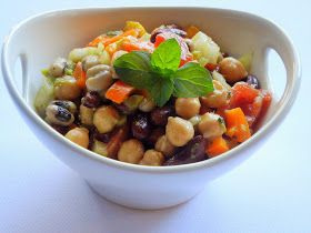 Gita's Kitchen - A blog for Indian diabetic recipes and healthy recipes: Three Bean Salad