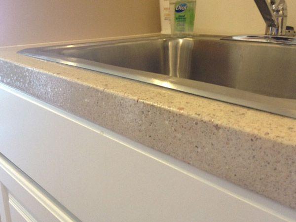 Concrete Countertop Edge Designs : ... forward concrete countertop color eased edges for concrete countertops