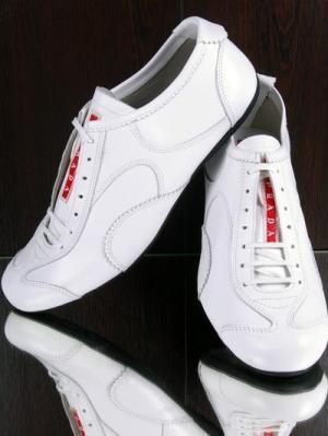 Prada Leather Shoes for Men-White
