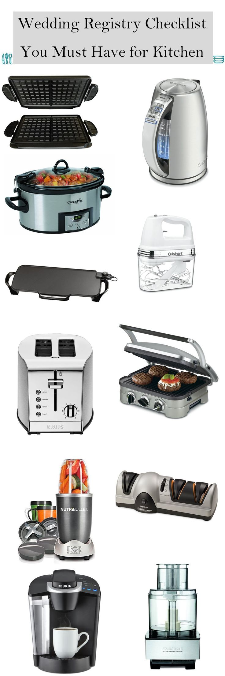 Wedding Ideas » Top 15 Wedding Registry Checklist You Must Have for Your Kitchen❤️ See more: http://www.weddinginclude.com/2017/02/wedding-registry-checklist-you-must-have-for-your-kitchen/