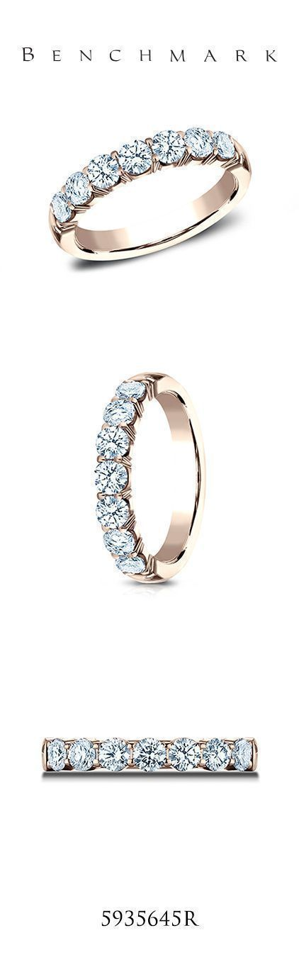 Both classic and elegant, this Rose Gold 3mm Crescent Shared Prong diamond band features 7 ideal cut diamonds. (Matches eng style CSPA16) #benchmarkrings #ring #rings #diamonds #diamond #fiance #weddingring #bling #wedding #gold #gettingmarried #theknot #shesaidyes #jewelry #engaged #engagementring #marryme #fashion #mensfashion #love #style #madeinamerica #beautiful #bride #groom #luxury #art #lovestory #womensfashion #engagement #diamondengagementring