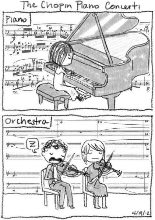 蕭邦鋼琴協奏曲管弦樂團的秘辛???