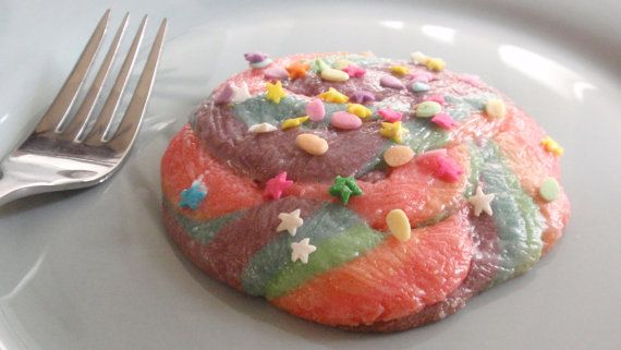 Unicorn Poop Cookies Rainbow Sparkly Glitter by BakeAllTheThings, $6.00  #food #cookies #unicorn
