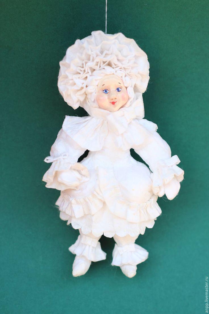 Купить Игрушка елочная - белый, ретр, ретро-стиль, девочка, воздушная, нежная