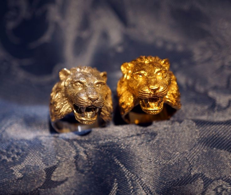 Great ring venetian Lion - Dogale Jewellery Venezia Italy Fine jewellery lions rings in massive yellow gold 18 kt or 925 sterling  silver,  in the eyes or mouth is possible setting precious stones, such as diamonds or rubies