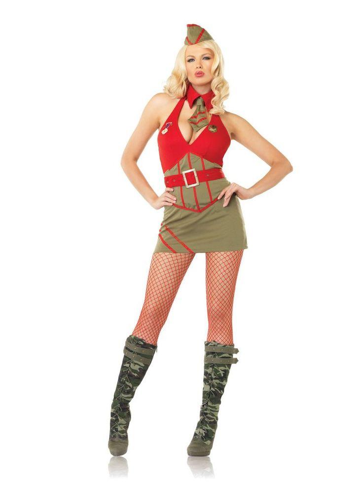 Medium ladies army costume