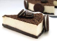 Tarta de chocolate blanco y galletas oreo - MisThermorecetas.com