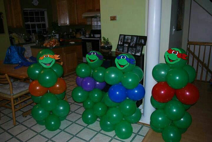 Tmnt balloon decorations tmnt pinterest tmnt for Tmnt decorations