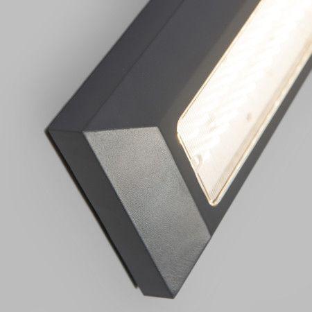 wandleuchte brick dunkelgrau sehr flache aufputz led leuchte zur decken oder wandmontage. Black Bedroom Furniture Sets. Home Design Ideas