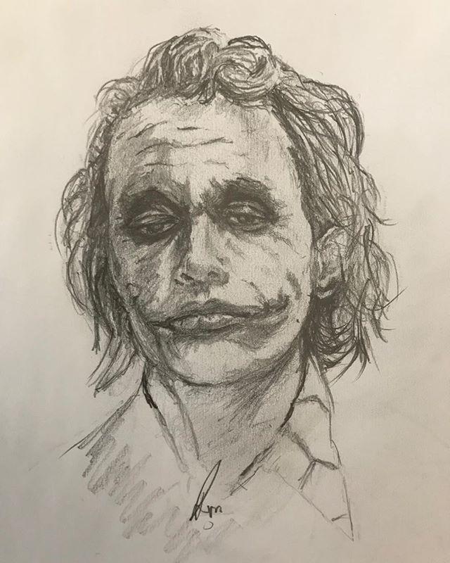 The Joker Sketch Joker Heath Ledger With Images Joker
