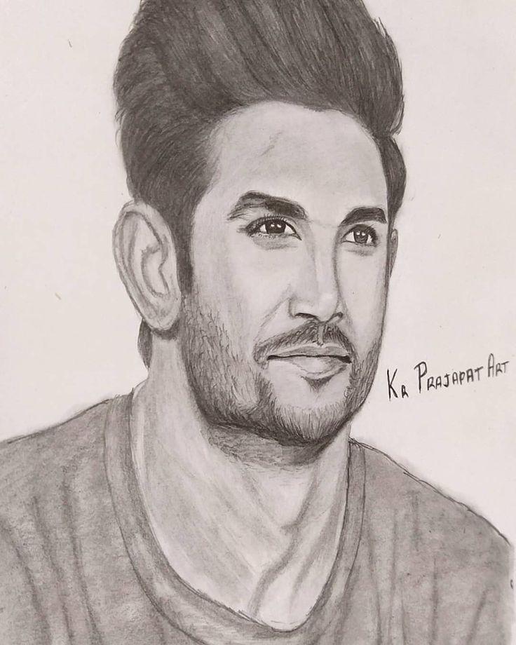 RIP sushant Singh Rajput in 2020   Male sketch, Sushant ...
