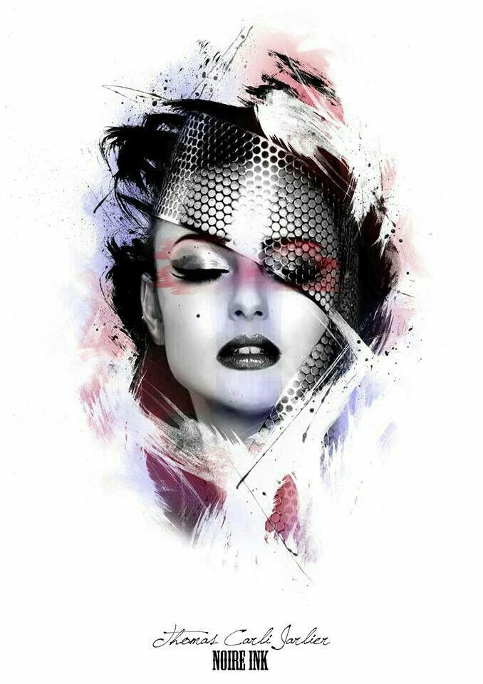 Tattoo design woman face