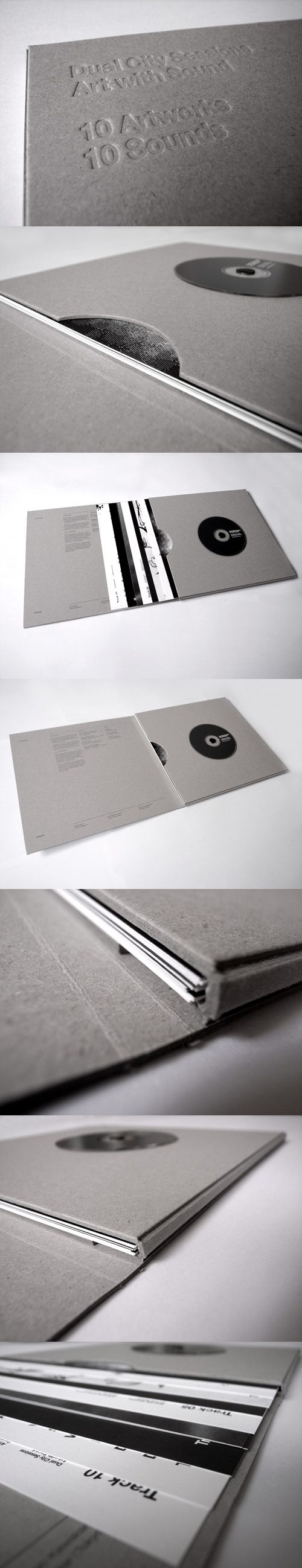 Brochure / sleeve, I like this idea of a vinyl cover because it is a different way of presenting work.