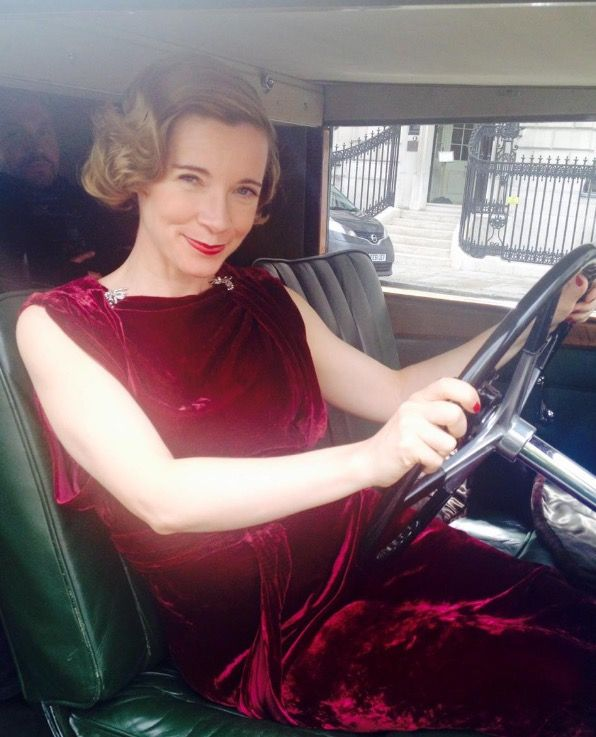 Lovely Dr Lucy Worsley in a vintage Rolls Royce filming for the BBC4, A Very British Romance. Hair & makeup by Issidora at Nina's Hair Parlour