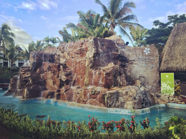 Waterfall and day spa - Raddison Resort Fiji.