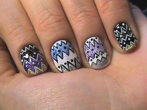 Этнический маникюр. Маникюр на короткие ногти/ Ethnic Nail Art Designs - YouTube