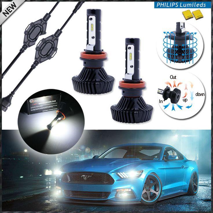High Power LED Koplamp Lampen-H7/H8 H9 H11/HB3 9005/HB4 9006/H1 H3 H4 H16 5202 9004 9007-Aangedreven Door Philips Luxeon LED