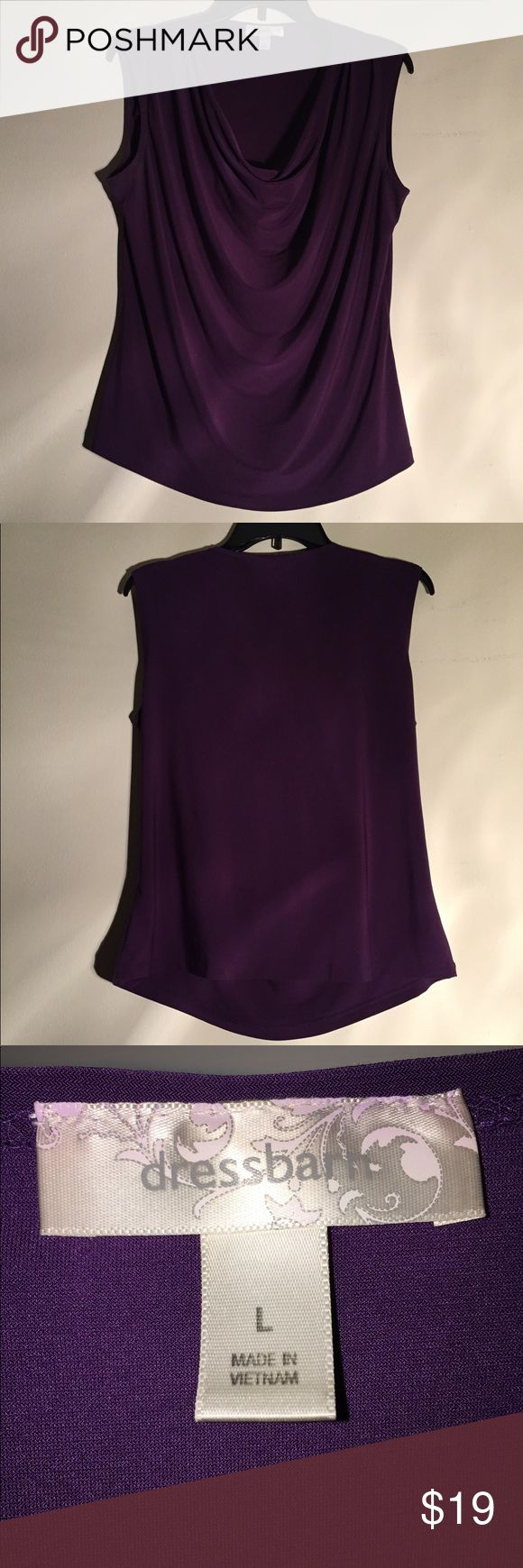 Professional, sophisticated, purple plum top! NWOT! 95% Polyester, 5% Spandex! Cutest purple dressy top for a night out on the town, dressing to impress for an interview, or making a great impression on your regular day at work! 😎🙋🏼💃🏼🛍💄💋💕 Dress Barn Tops Blouses
