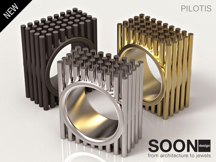NEW PILOTIS RING - available for sale http://www.shapeways.com/model/2986008/pilotis-ring-size-7.html?li=shop-results&materialId=85