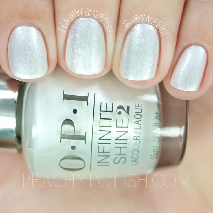 OPI Girls Love Pearls | Infinite Shine Breakfast At Tiffany's Collection | Peachy Polish