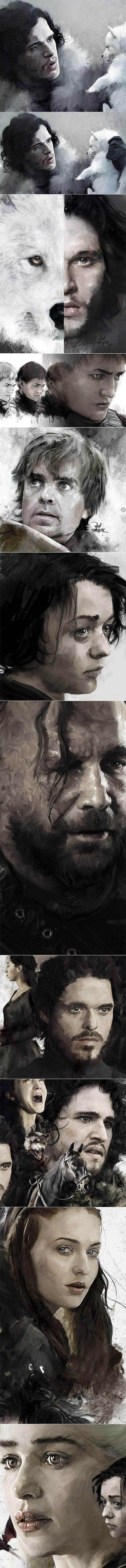 Artwork 'Game Of Thrones' on Behance Vlad Rodriguez