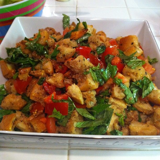 Bread, tomato & basil salad | Tasty Selections | Pinterest