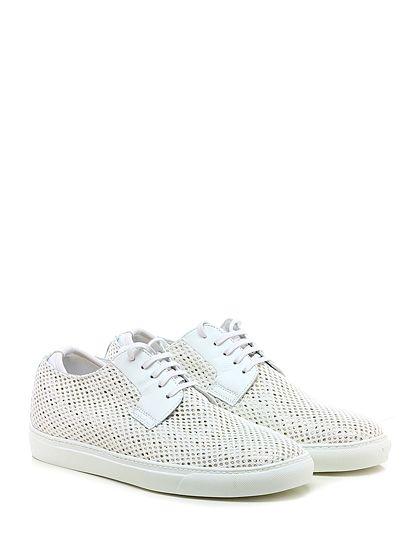 Be Positive - Sneakers - Uomo - Sneaker in pelle vintage e tessuto retina con suola in gomma. Tacco 30. - WHITE - € 265.00