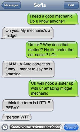 funny auto-correct texts - Car Trouble
