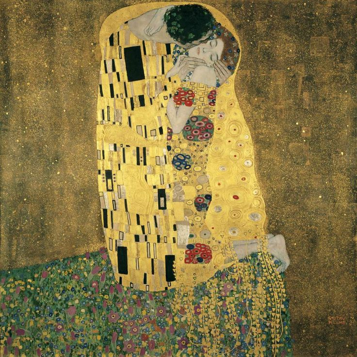 "Rumored to be Klimt and his red-haired lover, Emilie Flöge, the ""golden period"" painting is one of the artist's most beloved and iconic images."