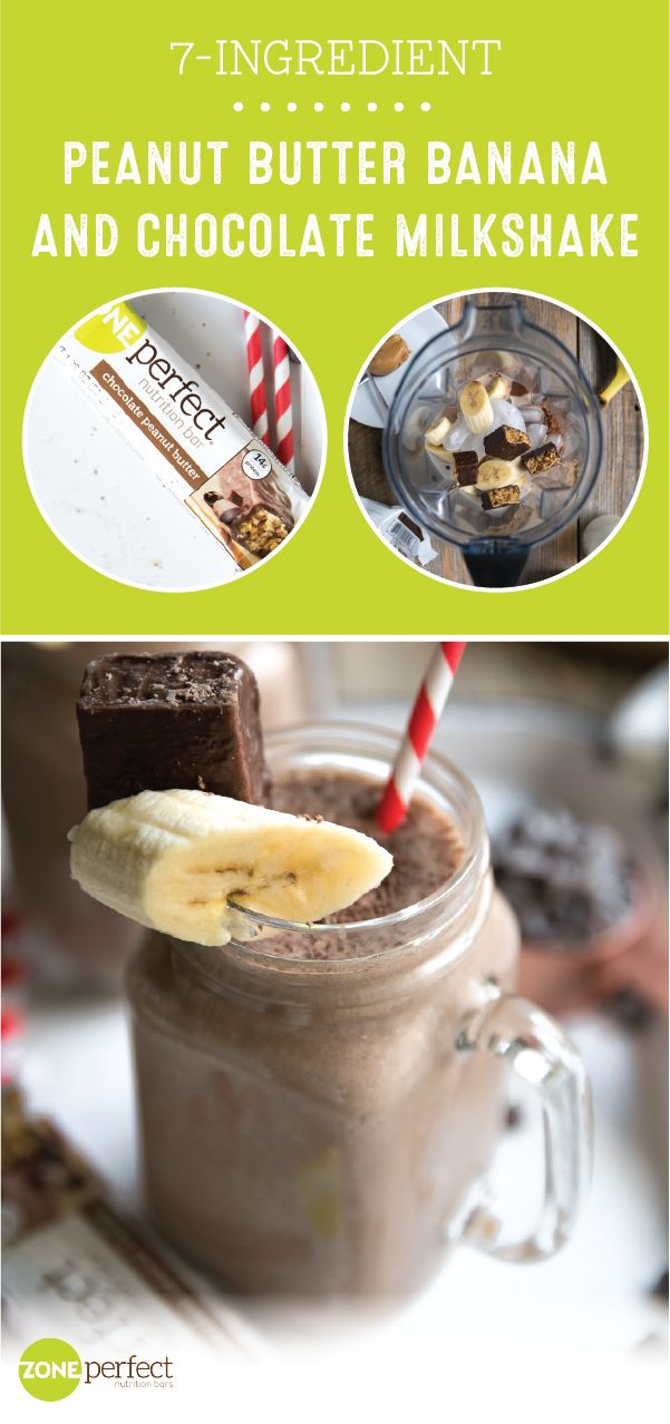 Sipping on a smart and tasty snack has never been easier than with this 7-Ingredient Peanut Butter Banana and Chocolate Milkshake made with ZonePerfect® Chocolate Peanut Butter Nutrition Bars! If you have a New Year's resolution you want to stick to or are just looking for easy dishes to freshen up your breakfast routine, look no further than this creamy, flavorful recipe.