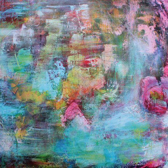 Movement of the wind  Dit is een 21 x 21 cm (8,3 x 8,3 inches) ART PRINT van een van mijn originele canvassen. De ART PRINT is gedrukt op 300 grams