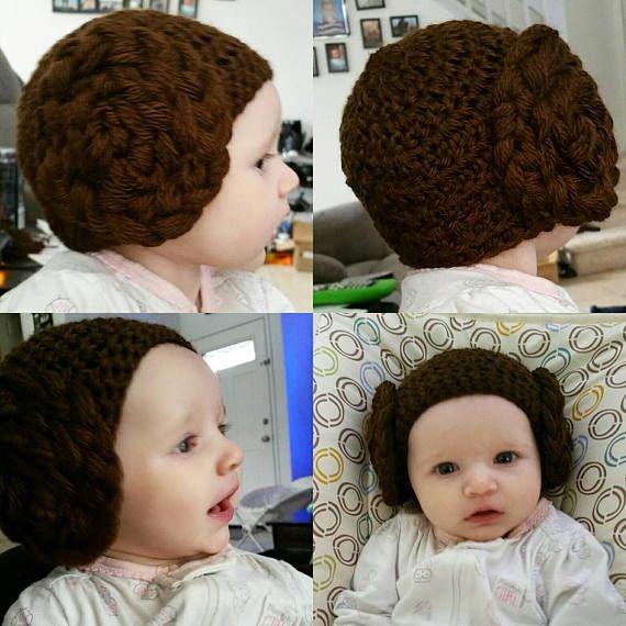 Leia Bun Beanie/ Princess Leia/ Baby Beanie