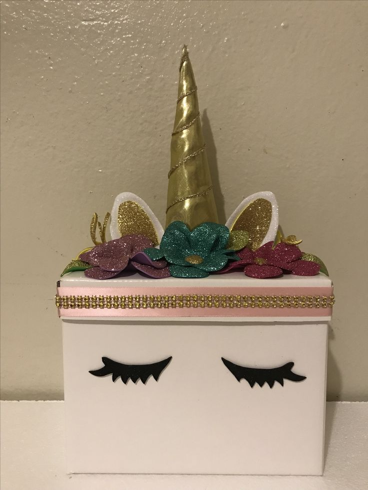 Unicornio caja unicorn box for invitation