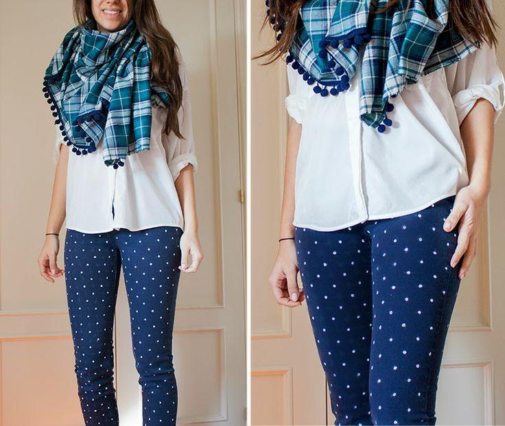 Mi primera máquina de coser: CR: Pantalón topitos