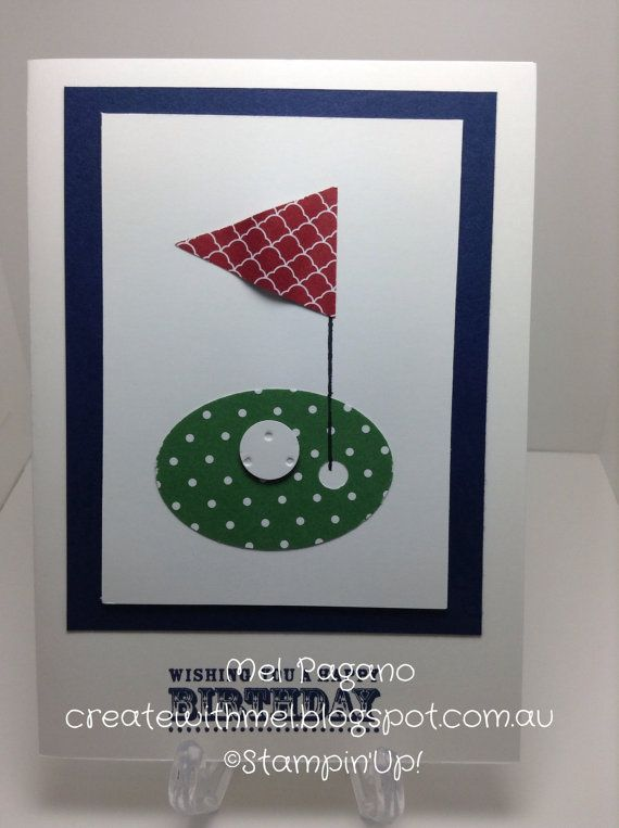 Hey, I found this really awesome Etsy listing at https://www.etsy.com/listing/186813476/handmade-birthday-golf-card-stampin-up