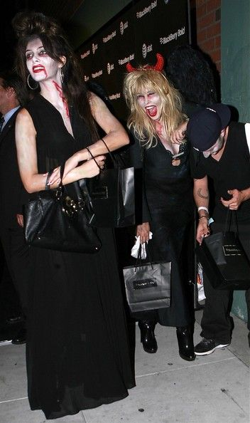 Lisa Gastineau Photos Photos - Socialite Brittny Gastineau and her mother Lisa Gastineau dressed in their Halloween costumes at the Blackberry Bold Party in Beverly Hills. - Brittny Gastineau And Lisa Gastineau At The Blackberry Bold Party