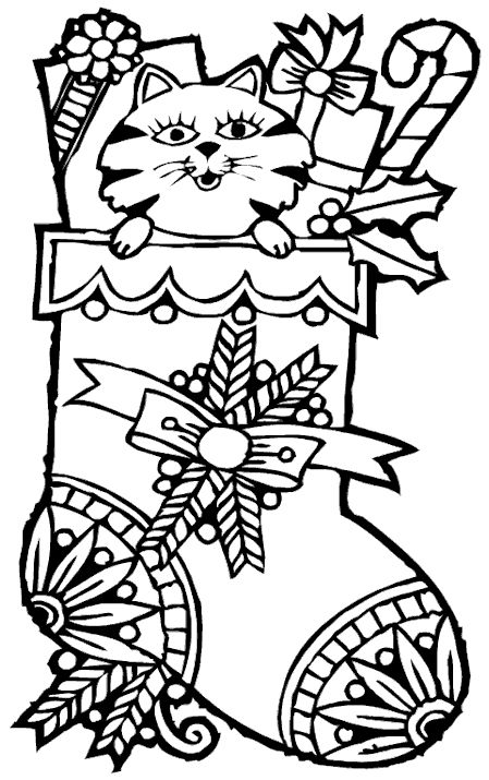 hard pretty christmas coloring pages free christmas coloring page christmas stocking