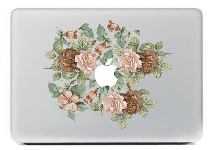 [Visit to Buy] Rose Group  Vinyl Decal Sticker for DIY Macbook Pro / Air 11 13 15 Inch Laptop Case Cover Sticker #Advertisement