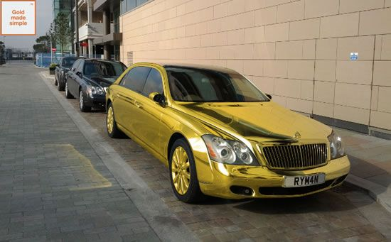 Donald Trump's new golden car for elections at a price of $ 3.5 million Find out for yourself