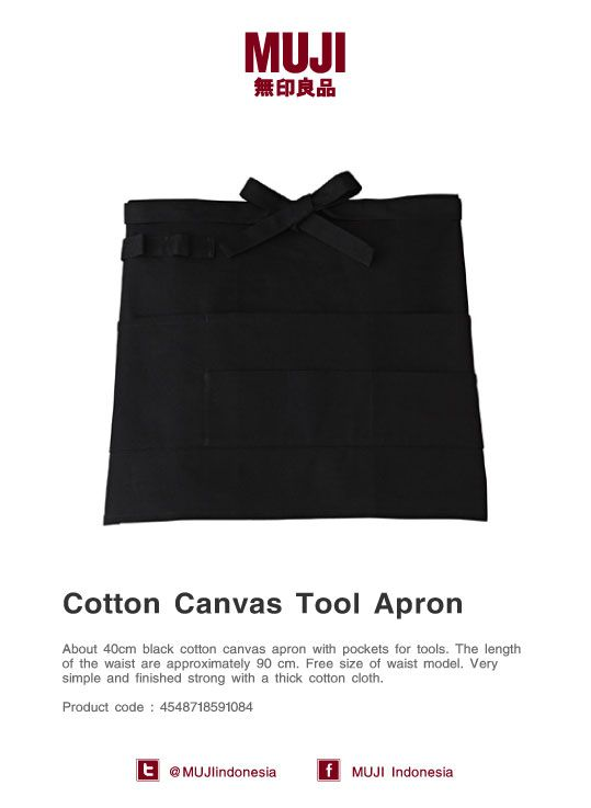 Cotton Canvas Tool Apron - Free size of waist model. Very simple and finished strong with a thick cotton cloth.
