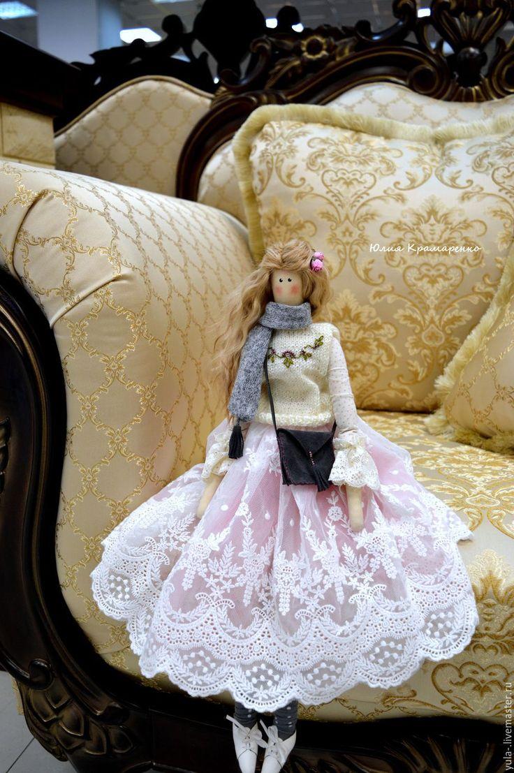 Купить Мактина..) - белый, розовый, тильда, подарок, в стиле тильда, кукла ручной работы