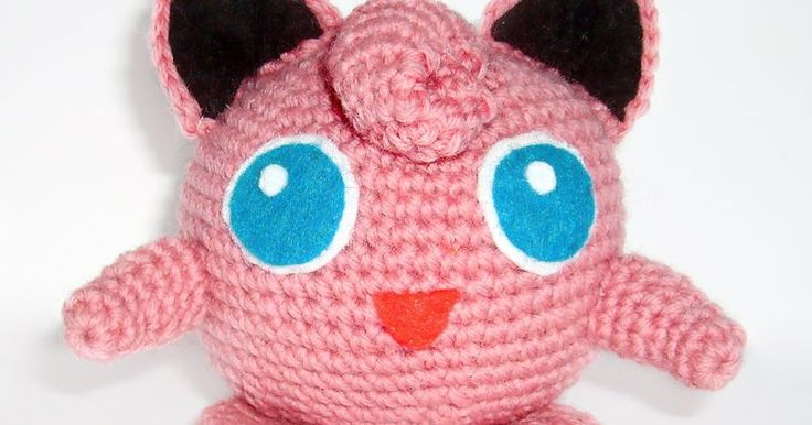 This is the Jigglypuff I made for the kids.   I ended up using a virgin wool (cause it's the only pink color I had)  and I don't like makin...